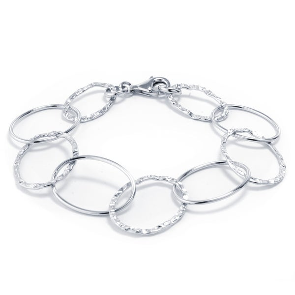 81a50bde967 Shop Sterling Silver Open Oval Link Bracelet - Free Shipping On Orders Over  $45 - Overstock - 16565776