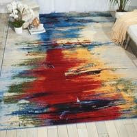 Nourison Chroma Crimson Tide Modern Area Rug - 5'6 x 8'