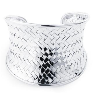 Sterling Silver Woven Cuff Bracelet