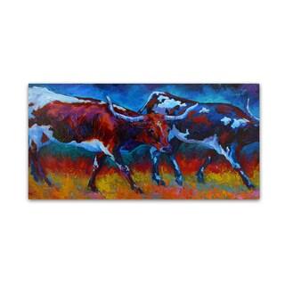Marion Rose 'Moving At Dusk' Canvas Art