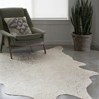 Clayton Ivory/ Champagne Faux Cowhide Rug - 6'2 x 8'