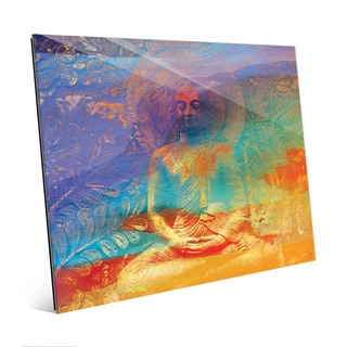 Hazy Buddha Abstract Wall Art Print on Acrylic