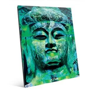 Teal Buddha Abstract Wall Art Print on Acrylic