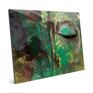 Emerald Buddha Abstract Wall Art Print on Acrylic