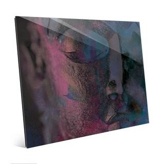 Indigo Buddha Abstract Wall Art Print on Acrylic