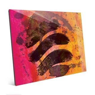 Warm Strokes Abstract Wall Art Print on Acrylic
