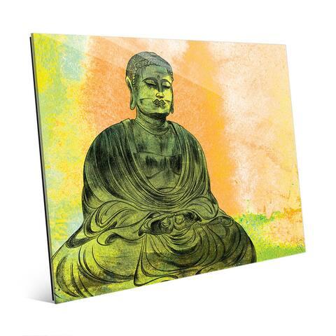 Persimmon Lotus Buddha Wall Art Print on Acrylic