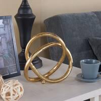 Danya B. Gold Eternal Loop Metal Sculpture