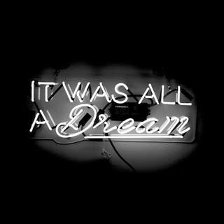 Oliver Gal 'It Was All a Dream' Neon Sign - White