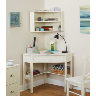 Simple Living Corner Desk and Hutch Set