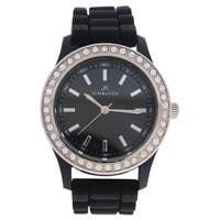 Kim & Jade 2032L-BK Black Silicone Women's Strap Watch