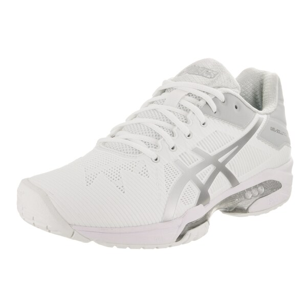 ae0fe75f Asics Women's Gel-Solution Speed 3 White Synthetic Leather Tennis Shoes