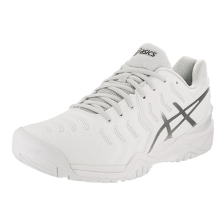 Asics Men's Gel-Resolution 7 White Tennis Shoes