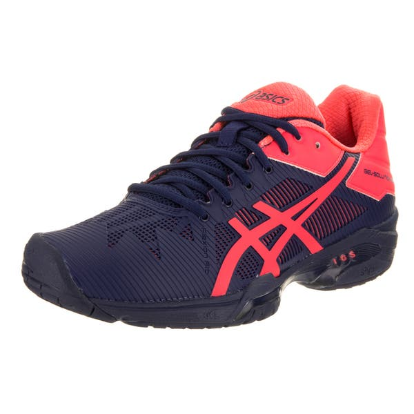 6e501276 Shop Asics Women's Gel-solution Speed 3 Blue Synthetic-leather ...