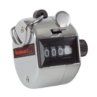 Hand Tally Counter- 4 Digit Metal Handheld Clicker Lap Counter By Stalwart