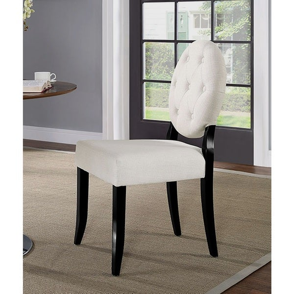 Horizon Round Beige Upholstered Dining Chair by Generic