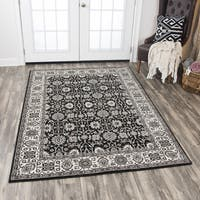 Rizzy Home Zenith Black Area Rug - 7'10 x 10'10