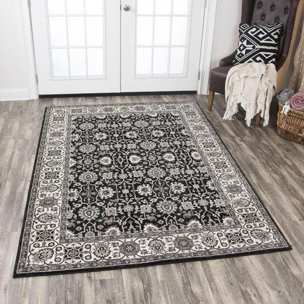 "Rizzy Home Zenith Black Area Rug (7'10 x 10'10) - 7'10"" x 10'10"""