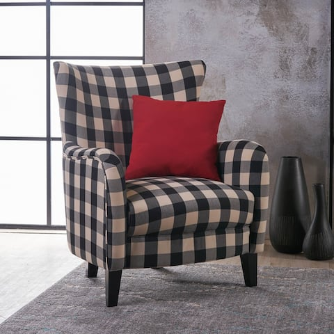Arabella Contemporary Fabric Upholstered Club Chair by Christopher Knight Home