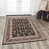 """Rizzy Home Zenith Red Motif Area Rug (7'10 x 10'10) - 7'10"""" x 10'10"""""""