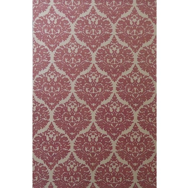 Dynamic Rugs Borgia Ivory/Coral Wool Area Rug - 8' x 11'