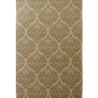 Dynamic Rugs Borgia Ivory/Gold Wool Area Rug - 5' x 8'