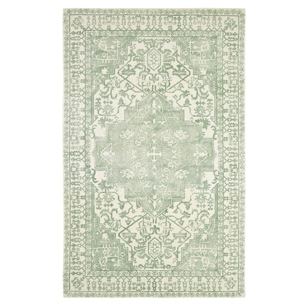 Shop Dynamic Rugs Borgia Mint Wool Area Rug Free Shipping Today