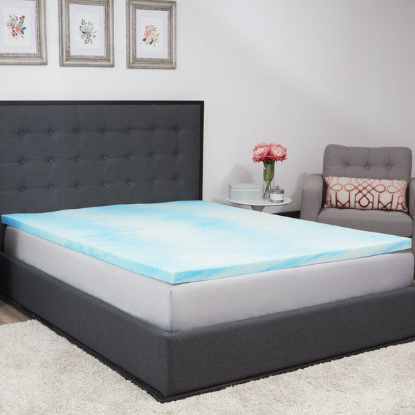 Authentic Comfort 1.5-inch Gel Swirl Memory Foam Mattress Topper