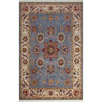 Arshs Fine Rugs Dastan Maurice Light Blue/Ivory Wool Hand-knotted Oriental Rug - 7' X 10'