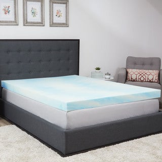 Authentic Comfort 4-inch Gel Swirl Memory Foam Mattress Topper