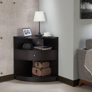 Furniture of America Aishe Contemporary Multi-shelf Corner Buffet/TV Cabinet