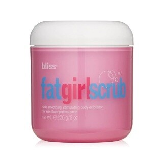 Bliss FatGirl Scrub Skin Smoothing Stimulating 2.7-ounce Body Exfoliator for Less Than Perfect Parts