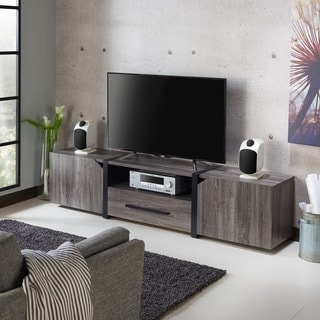 Furniture of America Glenad Modern Multi-storage 81-inch TV Stand