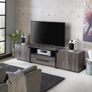 furniture of america glenad modern 81inch tv stand