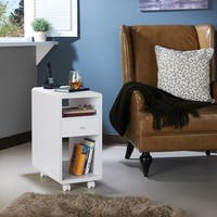 Furniture of America Lendel Contemporary 1-drawer Storage Side Table