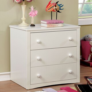 Furniture of America Alen Casual 3-drawer White Youth Chest