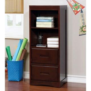Furniture of America Paige Multi-Storage Dark Walnut Storage Youth Bookcase