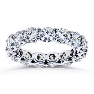 Annello by Kobelli 14k White Gold 5 Carats TGW Moissanite Eternity Prong-set Wedding Band Ring