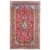 Herat Oriental Persian Hand-knotted Kashan Wool Rug (6'9 x 10'5) - 6'9 x 10'5