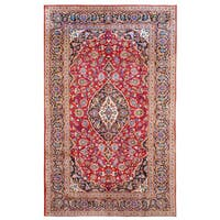 Handmade Herat Oriental Persian Kashan Wool Rug  - 6'9 x 10'5 (Iran)