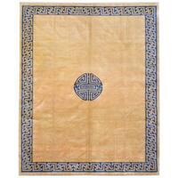 Handmade Herat Oriental Afghan Art Deco Design Wool Rug  - 8'6 x 10'4 (Afghanistan)