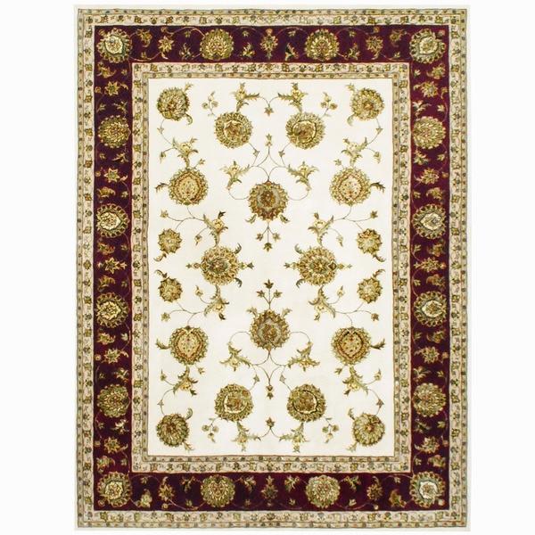 Shop Handmade Herat Oriental Indo Tabriz Wool & Silk Rug