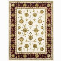 Herat Oriental Indo Hand-tufted Tabriz Wool & Silk Rug - 9' x 12'
