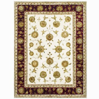 Herat Oriental Indo Hand-tufted Tabriz Wool & Silk Rug (9' x 12') - 9' x 12'