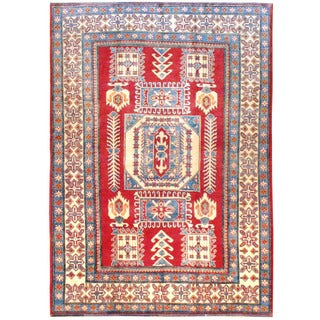 Handmade One-of-a-Kind Kazak Wool Rug (Afghanistan) - 6'2 x 8'6