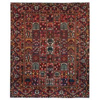 Herat Oriental Persian Hand-knotted 1930s Antique Tribal Bakhtiari Wool Rug (10' x 12') - 10' x 12'