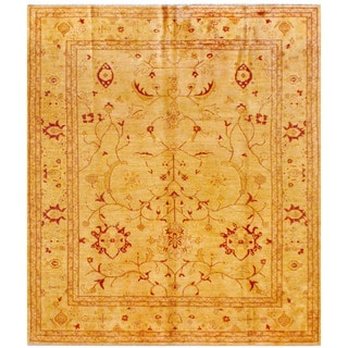 Herat Oriental Afghan Hand-knotted Oushak Wool Rug (8'4 x 9'4)