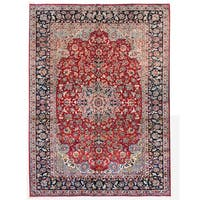 Herat Oriental Persian Hand-knotted Isfahan Wool Rug (10' x 13')
