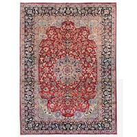 Herat Oriental Persian Hand-knotted Isfahan Wool Rug (10' x 13') - 10' x 13'