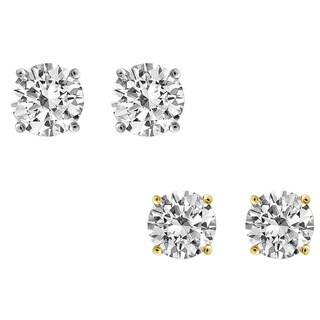 IGI Certified Diam Stud Earrings 14KT Gold Jewelry For Women & Girls - White J-K